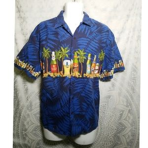 Kalaheo Hawaiian Beer Button Down Shirt L